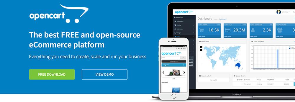 e-handelsmjukvara: opencart