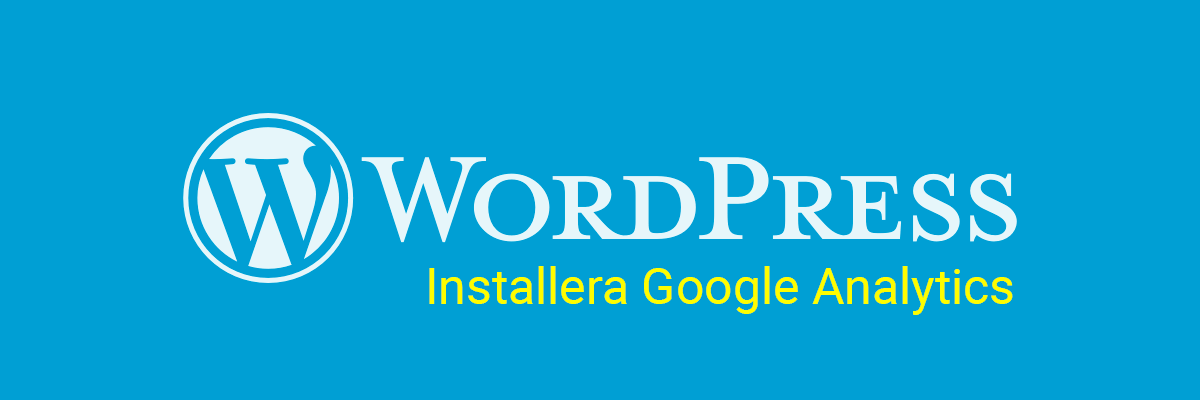 installera google analytics i wordpress