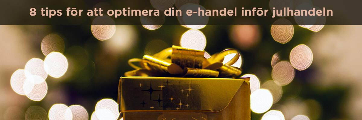 optimera e-handel inför julhandeln