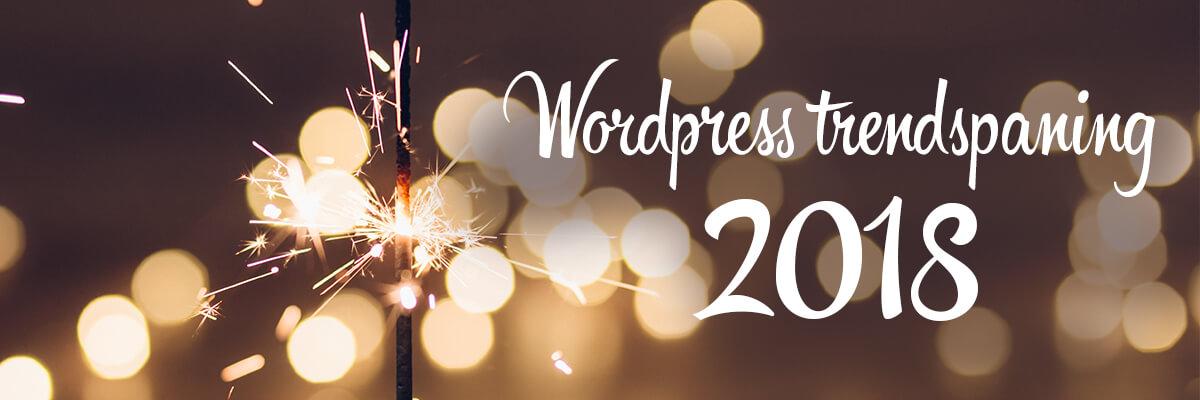 WordPress trendspaning 2018