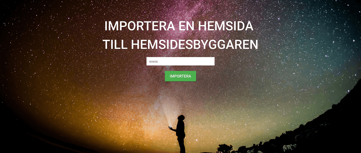hemsidesbyggare - importera en hemsida