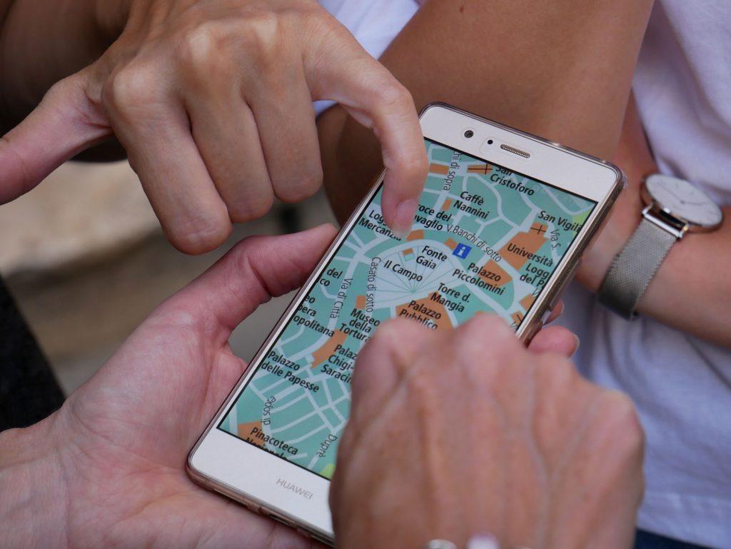 app med karta